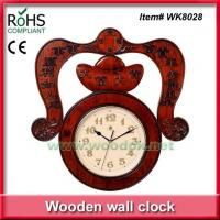 Buy cheap WK8028Carved wood wall clock decor with Chinese blessing from wholesalers
