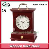 Buy cheap WK302624.5x31.5 cm Green product timber promotional desk clock from wholesalers