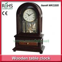 Buy cheap WK3205W2014New style table clock with drawer rotating clock movement from wholesalers