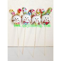 rabbit head with stick for decoration and Easter day