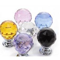 China Mix Colorful crystal kitchen cabinet door knobs on sale