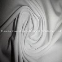 China Polyester Lycra Single Jersey Knitting Fabrics White on sale