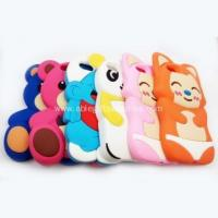 China Lovely animal shape silicone iphone5s phone case for gifts on sale