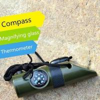 China urvival Whistle LED Flashlight,Compass,Magnifying glass,Waterproof Storage Box,Thermometer on sale