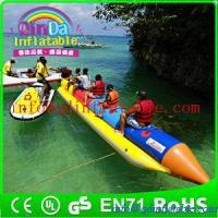 Buy cheap QinDa Customized Inflatable Banana Boat / Inflatable water game from wholesalers