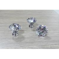 China GH-062 crystal glass door handle for furniture on sale