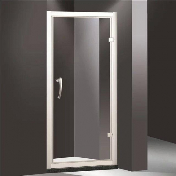 China curved glass shower doors Pivot shower enclosure