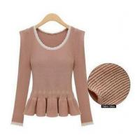Best Lady New Fashion Sweater with Ruffles wholesale