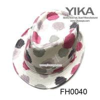 Best FH0040Floral fashion womens fedora hat wholesale