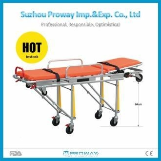 Cheap Stretcher FDA Approved PWS-3B Elevator Version Aluminum Alloy Ambulance Stretcher for sale