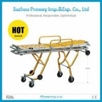 Stretcher CE & FDA Approved PWS-3GW Hollow Plastic Aluminum Alloy Ambulance Stretcher