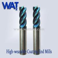 Best 65 HRC Nano-Blue Carbide End Mill Cutter, High Speed Cutter wholesale