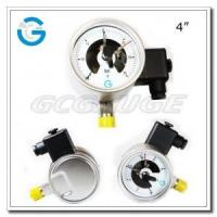 Best Electric contact pressure gauges 4 inch dial with all stainless steel bottom connection wholesale