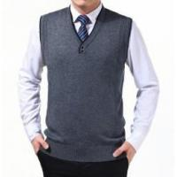 China Men's knitted sweater vest on sale