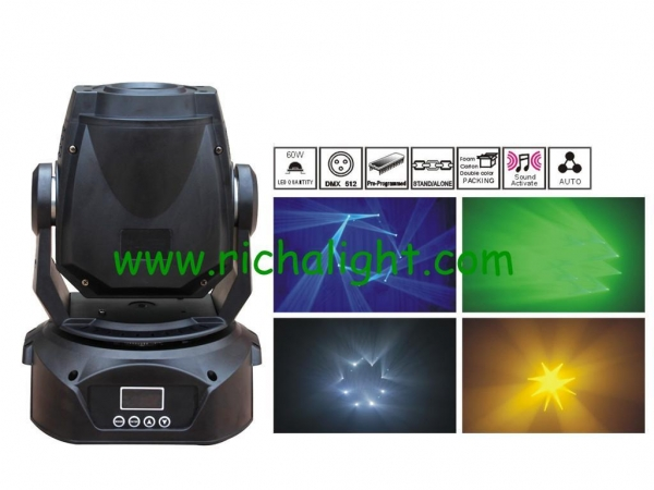 Cheap Mini 60w led spot moving head stage light for sale