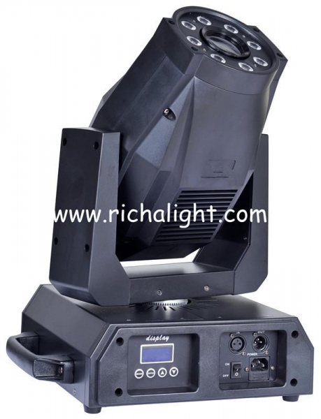 Cheap 60W led spot moving head with 8X9W tricolor leds mixing for sale