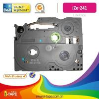 China TZe-241(Length:10M) black on white tape for Brother P-touch label tape Printer on sale