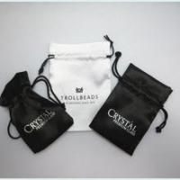 China Custom logo silk satin bags hair,hair extension bags,jewelry gift bag satin on sale