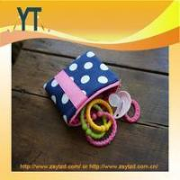 Best Blue And Pink Polka Dot Baby Pacifier Bag,Baby Pacifier Clip,Baby Pacifier Holder wholesale