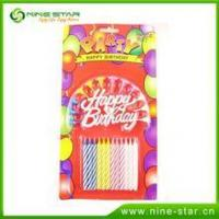 China Multicolor stick candles for birthday cake factory wholesale on sale