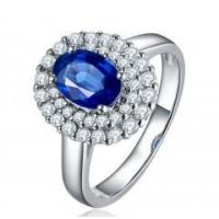 China Sapphire, female ring on sale