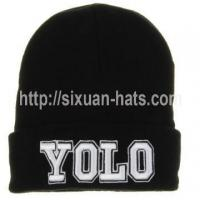 Buy cheap 3D Embroidered Beanie Hats Cheap high quality 3D embroidered winter hat from wholesalers