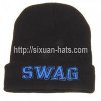Buy cheap 3D Embroidered Beanie Hats Winter acrylic beanie for skiing hip hop hats from wholesalers
