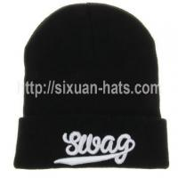 Buy cheap 3D Embroidered Beanie Hats Colorful 3D embroidered guys in beanies from wholesalers