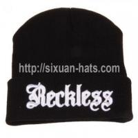 Buy cheap 3D Embroidered Beanie Hats Winter colorful hats and caps for sexy girls in beanies from wholesalers