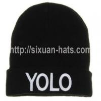 Best 3D Embroidered Beanie Hats Promotional Cuffed Hat Colorful Winter Hat wholesale
