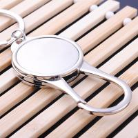 China simple metal spring carabiner key ring promotional business gift PLYS022 on sale