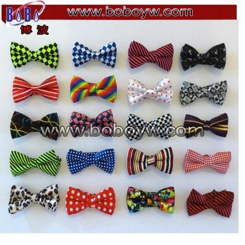 China Tie & Bowtie Party Items Polyester Jacquard Cartoon Baby Bowtie