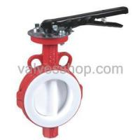 Buy cheap Wafer butterfly valve Fully lined PTFE Butterfly Valve Wafer from wholesalers