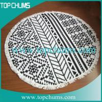 China aztec-round-beach-towel with tassel on sale