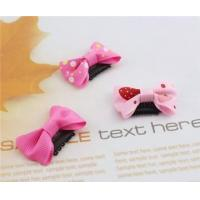Best Newborns Dot Thin Hair Bow Clips For Babies Hair Accessories wholesale