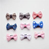 Best Newborns Leopard Thin Hair Bow Clips For Babies Hair Accessories wholesale
