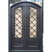 Best 2016 newly-designed galvanized iron entry door glass inserts FD-563 wholesale