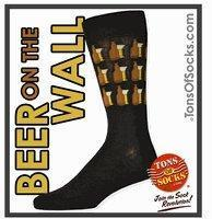 Buy cheap Men's Beer On The Wall Socks (Black) (Final Sale) from wholesalers