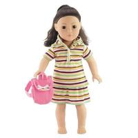 Best 18-inch Doll Clothes - Hoodie, Shirt, and Skirt with Backpack - fits American Girl  Dolls wholesale