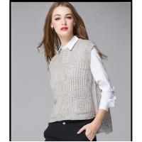 Best Latest sleeveless sexy ladies fashion knitted vest women woolen vest sweater wholesale