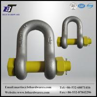 Buy cheap SHACKLE HDG US tyoe forged D shackle with safety pin from wholesalers