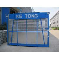 China Blue Construction Hoist Parts Building Lifter Single Elevator Cage 2000kg Load Capacity on sale