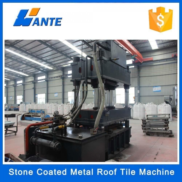 Colorful Stone Chips Coated Roof Tile Machine Production