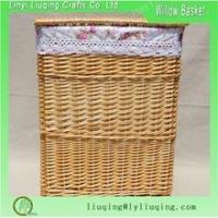 China Wicker Laundry Baskets Large wicker basket with lid for hotel on sale