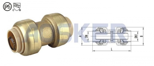 Cheap USA Series Push Fit Coupling for sale