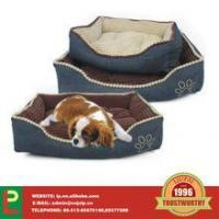 China dog bed with paw print cushion pads on sale