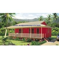 Cheap Moistureproof Home Beach Bungalows , Fireproof Wooden House Bungalow for sale