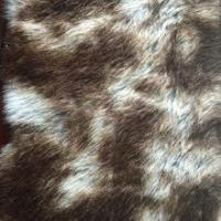 China long pile high quality fake fur fabric, printed fur fabric on sale