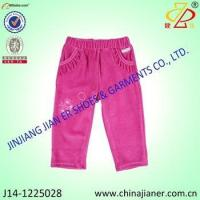 Best new style products red color with pocket fashion baby pants girls wholesale