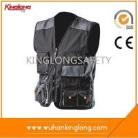 Best Safety Vest Multi Pockets Sleeveless Canvas Safety Work Vest wholesale
